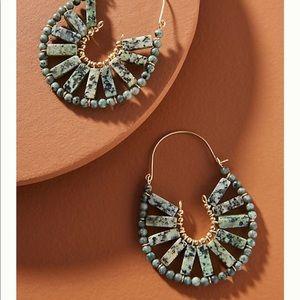 NWT Anthropologie Callista Hoop Earrings